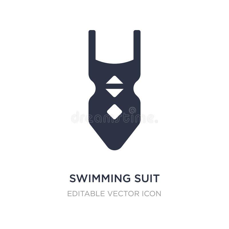 pływackiego kostiumu ikona na białym tle Prosta element ilustracja od wakacje pojęcia ilustracji