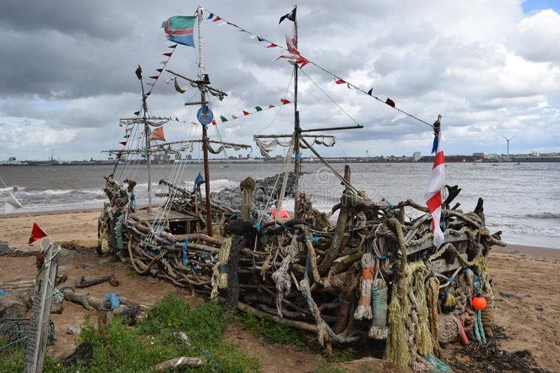 På bankerna av floden mersey arkivfoton