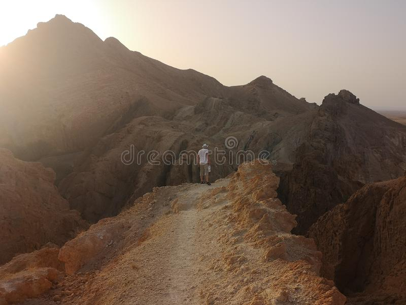 På bergen av Tunisien arkivbild