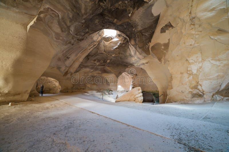 På Bet Guvrin-Maresha National Park Israel royaltyfri fotografi