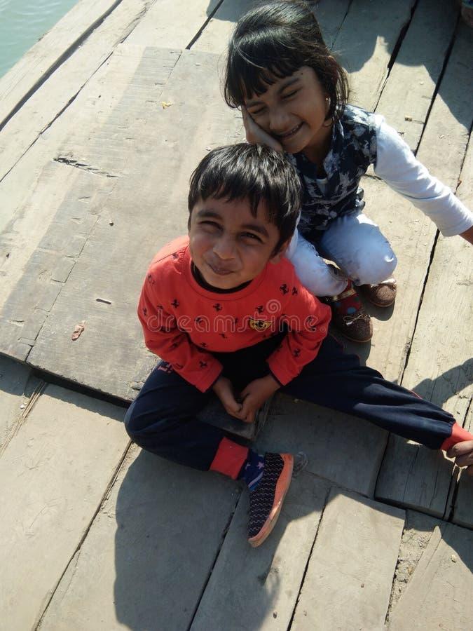 På bogibillbron på fartyget som bron är förbindelsearunachal och lakhimpur med dibrugarh _ india royaltyfri bild