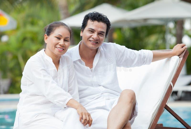 På brunnsortsemesterorten royaltyfria bilder