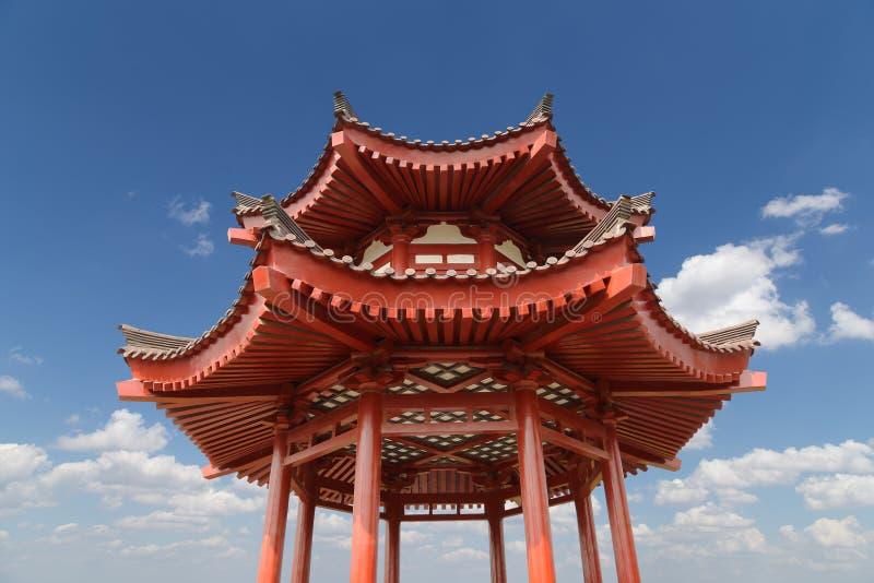 På den jätte- lösa gåspagoden för territorium eller stor lös gåspagod Xian royaltyfri fotografi