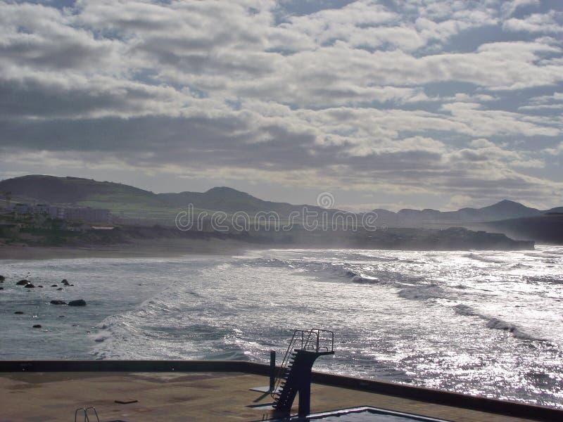 På den stora kusten av Ribeira, Sao Miguel, Azores fotografering för bildbyråer