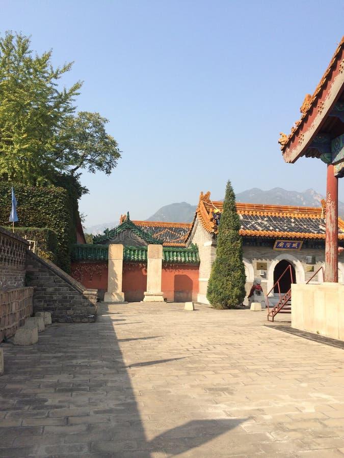 By på den stora väggen av Kina arkivbild