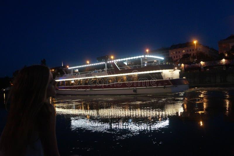 På Donauen royaltyfri foto