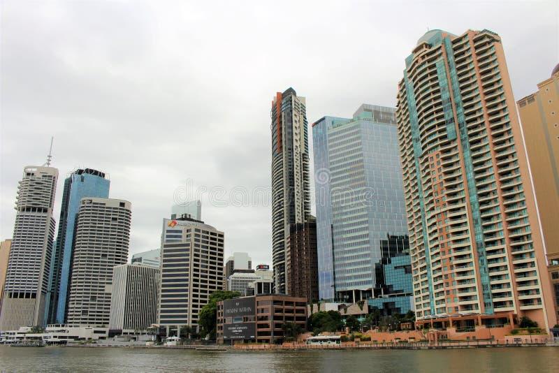 På en fartygtur i Brisbane Australien royaltyfria bilder