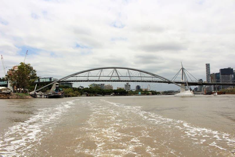 På en fartygtur i Brisbane Australien royaltyfri bild