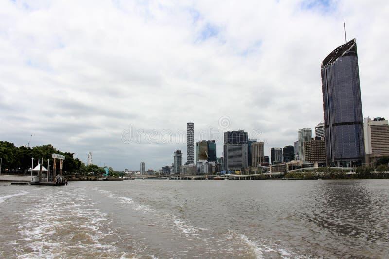På en fartygtur i Brisbane Australien arkivfoto