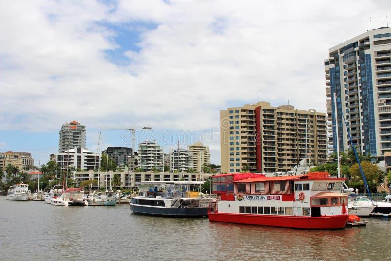 På en fartygtur i Brisbane Australien royaltyfria foton