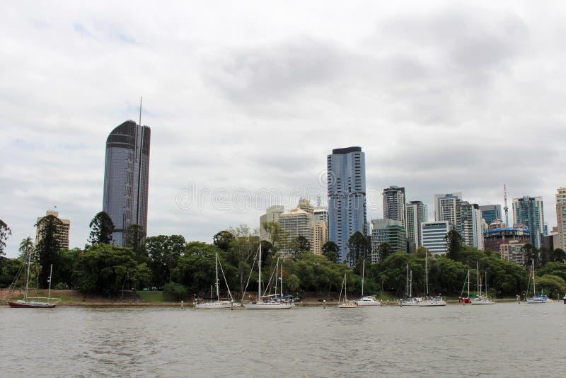 På en fartygtur i Brisbane Australien royaltyfri foto