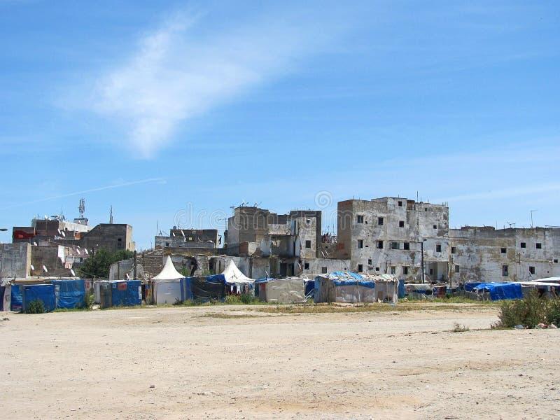 På gatan Casablanca, Marocko royaltyfri fotografi