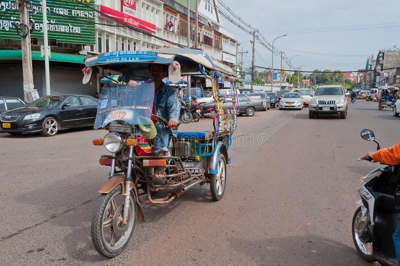 På gatan. Vientian. Laos. arkivbilder