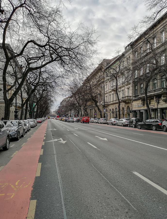 På gatorna av Budapest royaltyfria foton