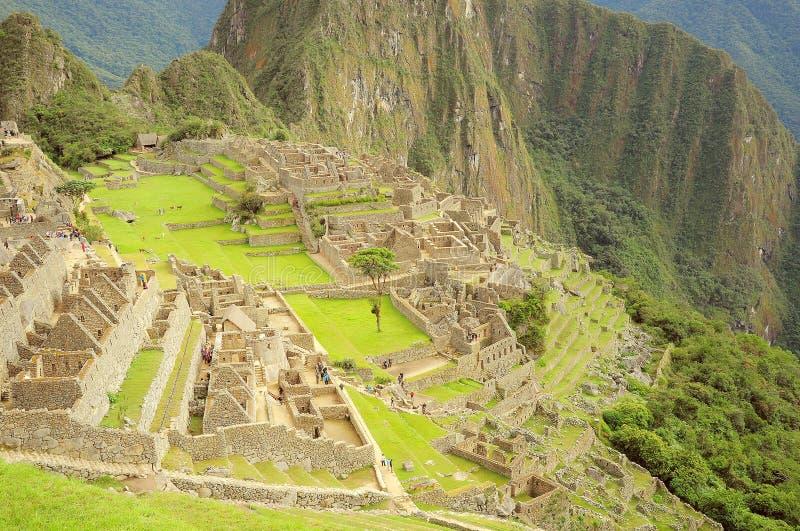 På gatorna av Machu Picchu royaltyfri fotografi