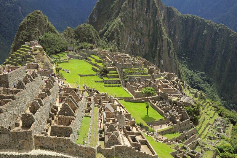 På gatorna av Machu Picchu fotografering för bildbyråer