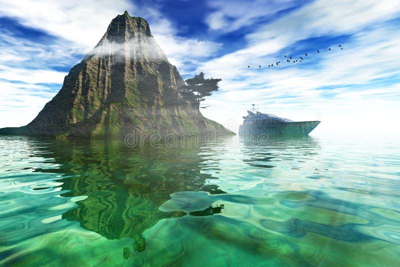 På havet royaltyfria foton