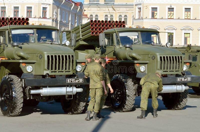 På helgdagsaftonen av ståta till Victory Day arkivfoton