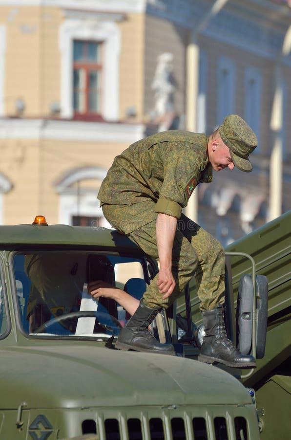 På helgdagsaftonen av ståta till Victory Day arkivbild