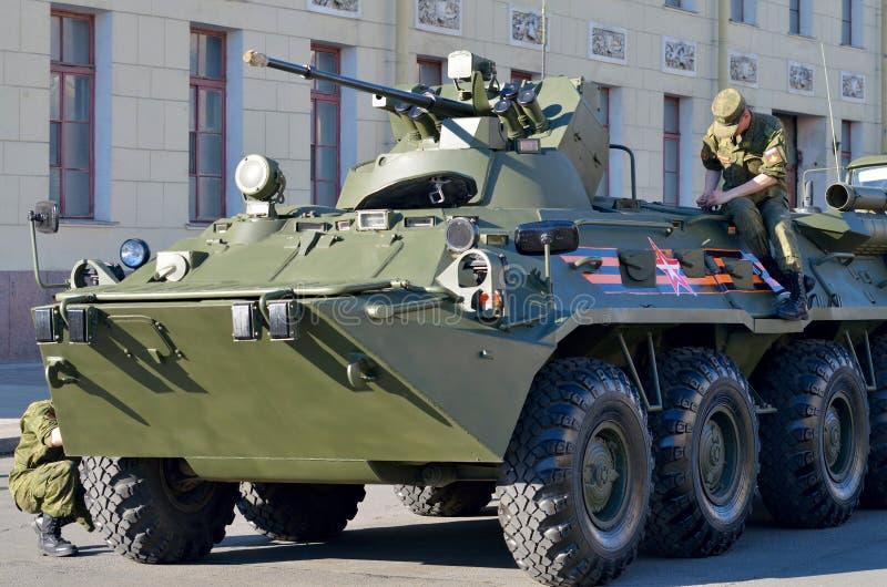 På helgdagsaftonen av ståta till Victory Day royaltyfri foto