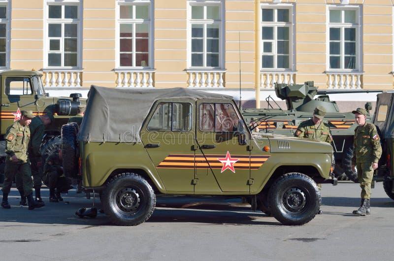 På helgdagsaftonen av ståta till Victory Day royaltyfria bilder