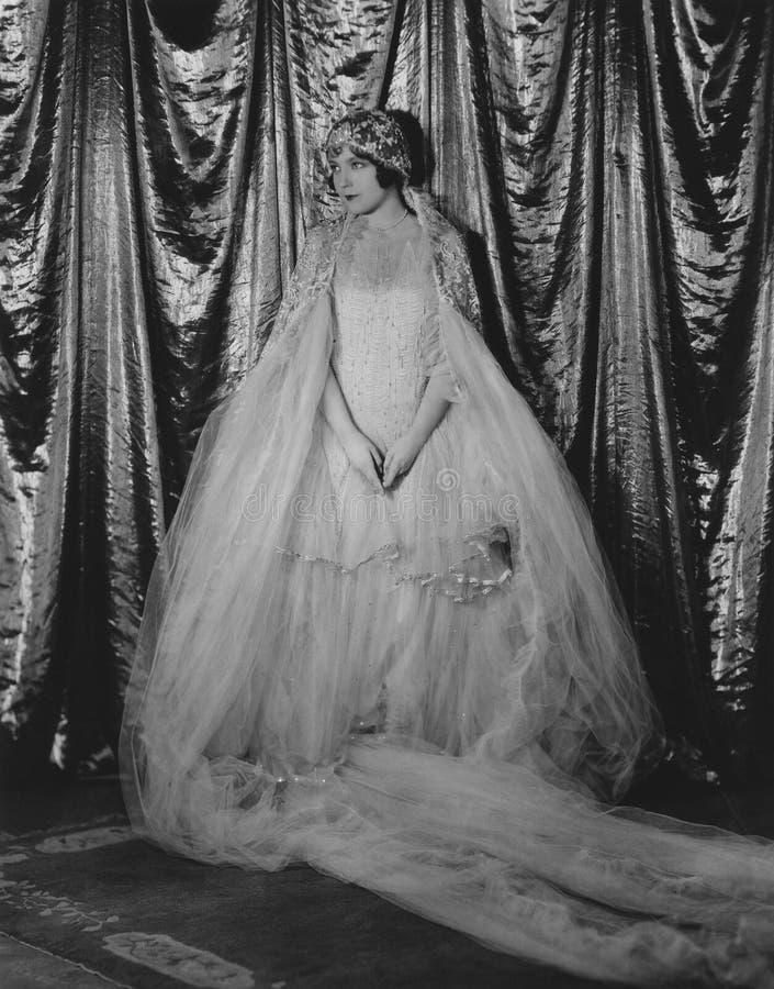 På hennes bröllopdag royaltyfri foto