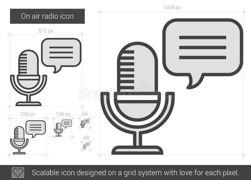 På luftradiolinjen symbol vektor illustrationer