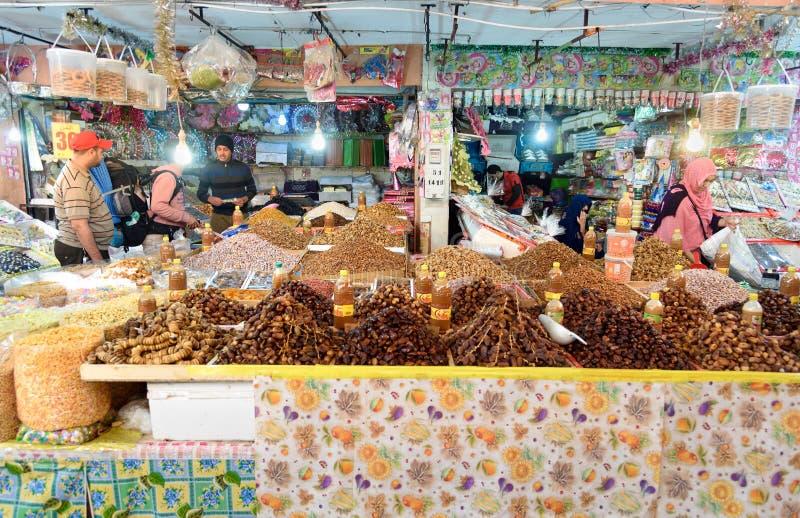På marknad i Tiznit morocco royaltyfri foto
