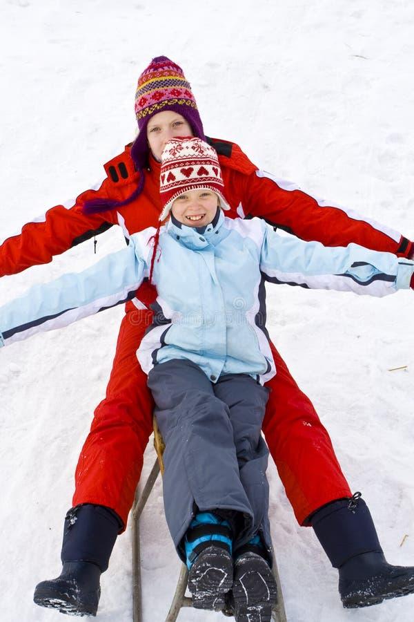 På snowen fotografering för bildbyråer