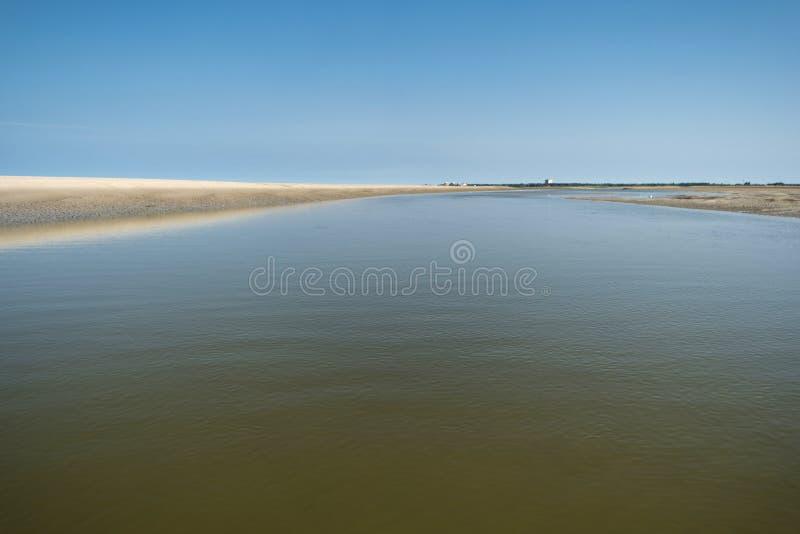 På stranden av St Peter-Ording royaltyfria foton