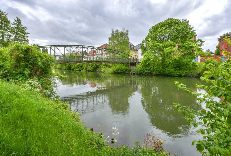 På utkanten av Strasbourg Frankrike fotografering för bildbyråer