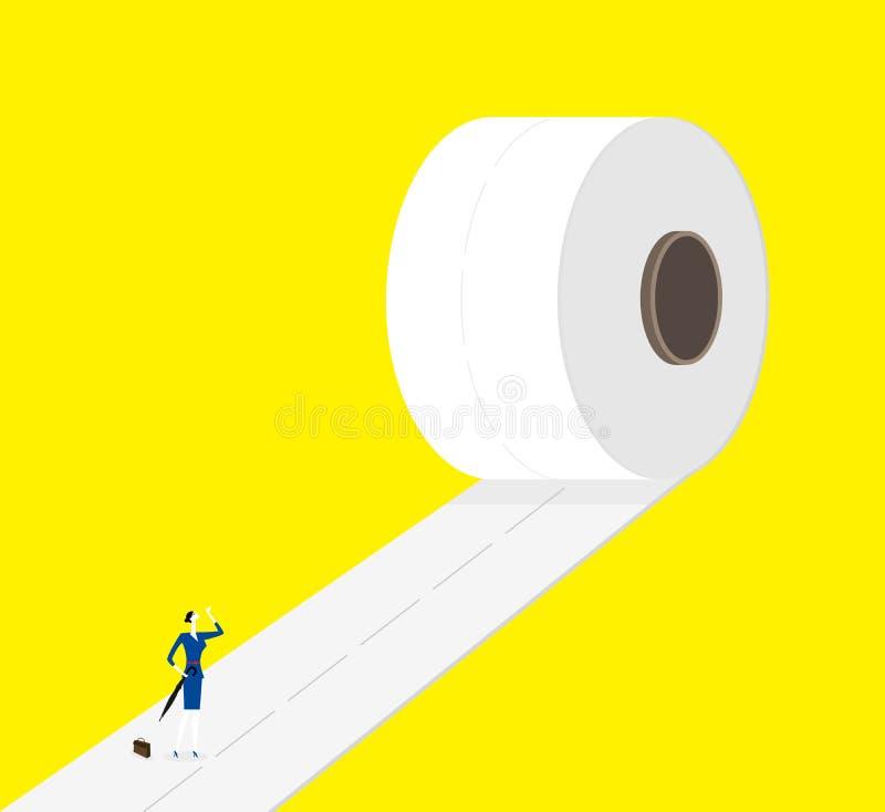 På vägen framåtriktat stock illustrationer