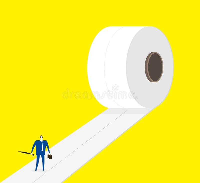 På vägen framåtriktat vektor illustrationer