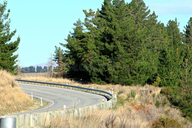 På vägen till Queenstown södra ö Nya Zeeland royaltyfri fotografi