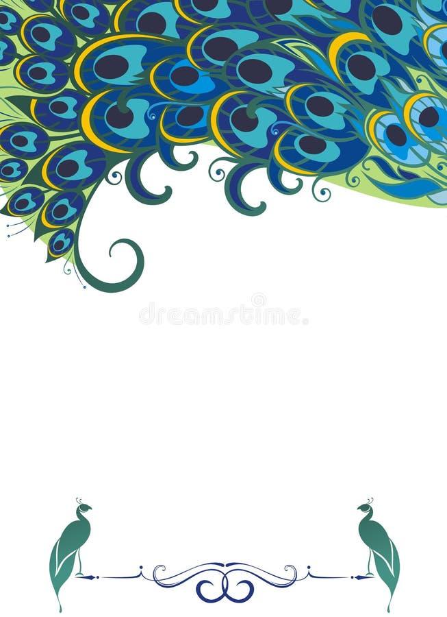 Påfågelbakgrund vektor illustrationer