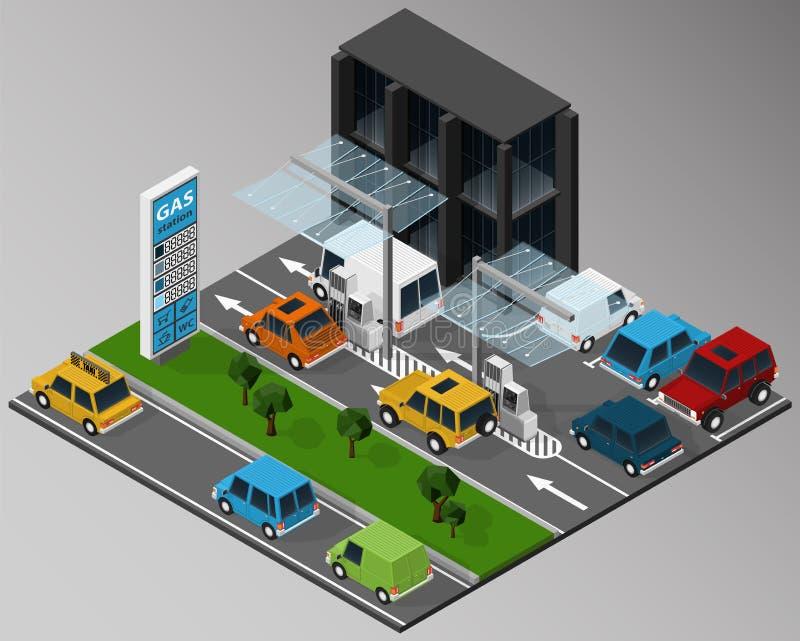 Påfyllning bensinstation arkivbilder