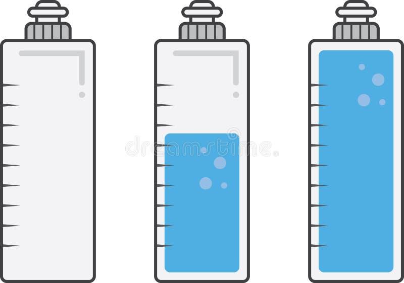 Påfyllningar för vattenflaska royaltyfri illustrationer
