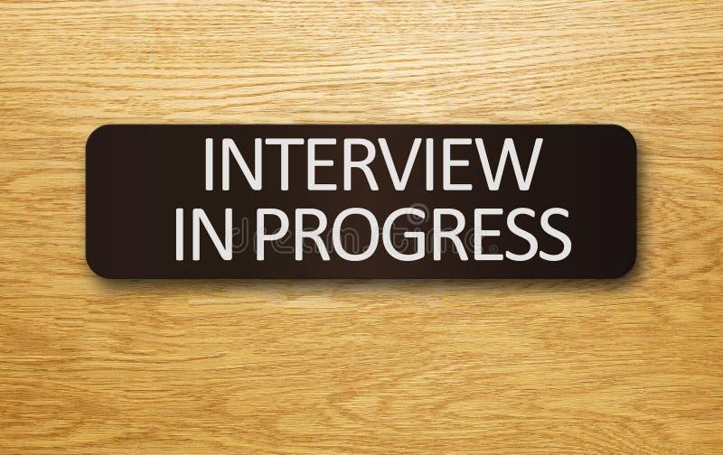 Pågående intervju arkivfoto