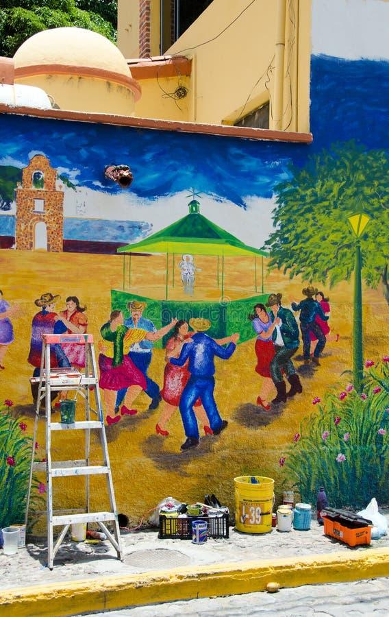 Pågående Utomhus Vägg Målning Redaktionell Arkivfoto Bild av v u00e3 u00a4ggm u00e3 u00a5lning, plats 31883378