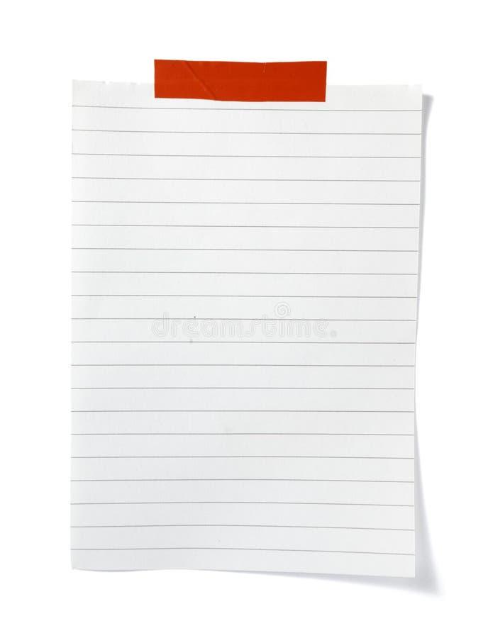 påminnelse för papper för affärsanmärkningskontor arkivbild