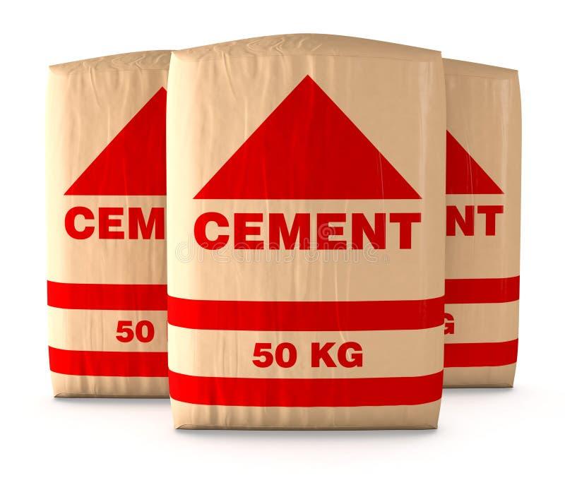 Påsar av cement royaltyfri illustrationer