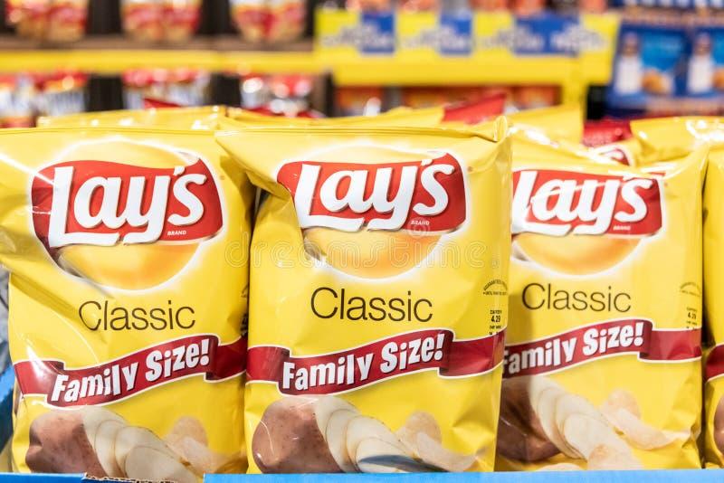 Påsar av Frito lägger märke av potatischiper royaltyfri foto
