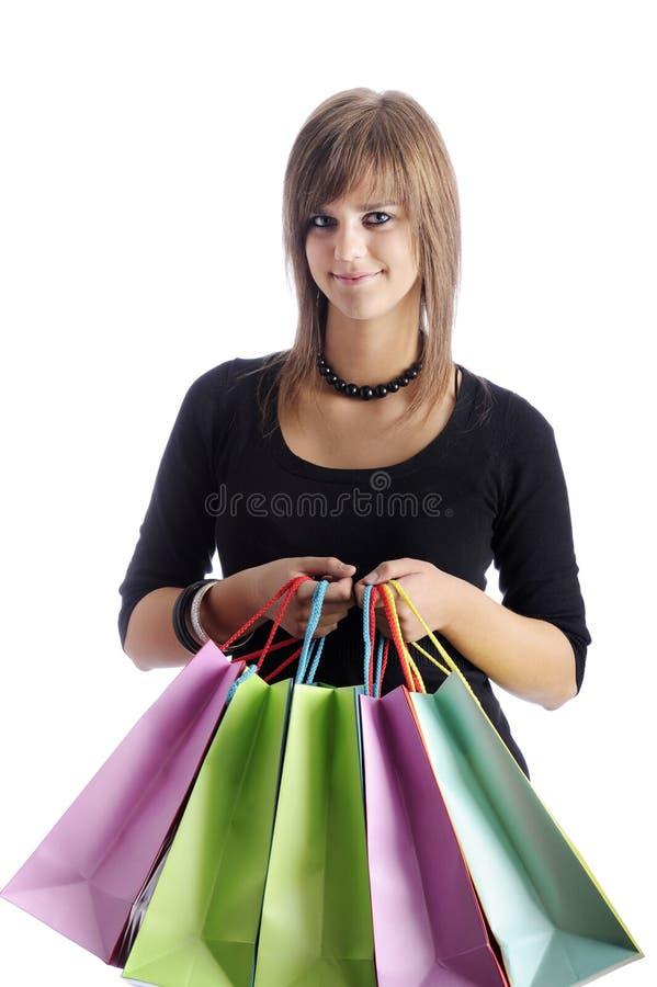 påsar som shoppar tonåringen royaltyfri foto