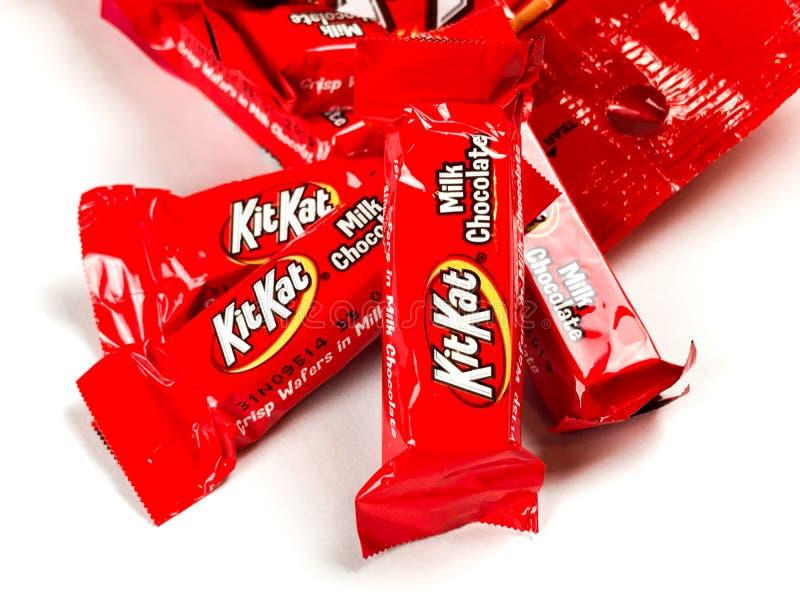 Påse av Kit Kat Chocolate Candy royaltyfri bild