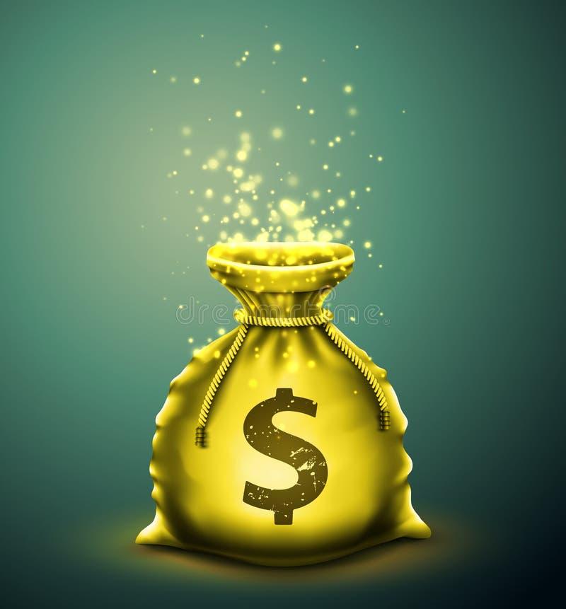 Påse av pengar vektor illustrationer