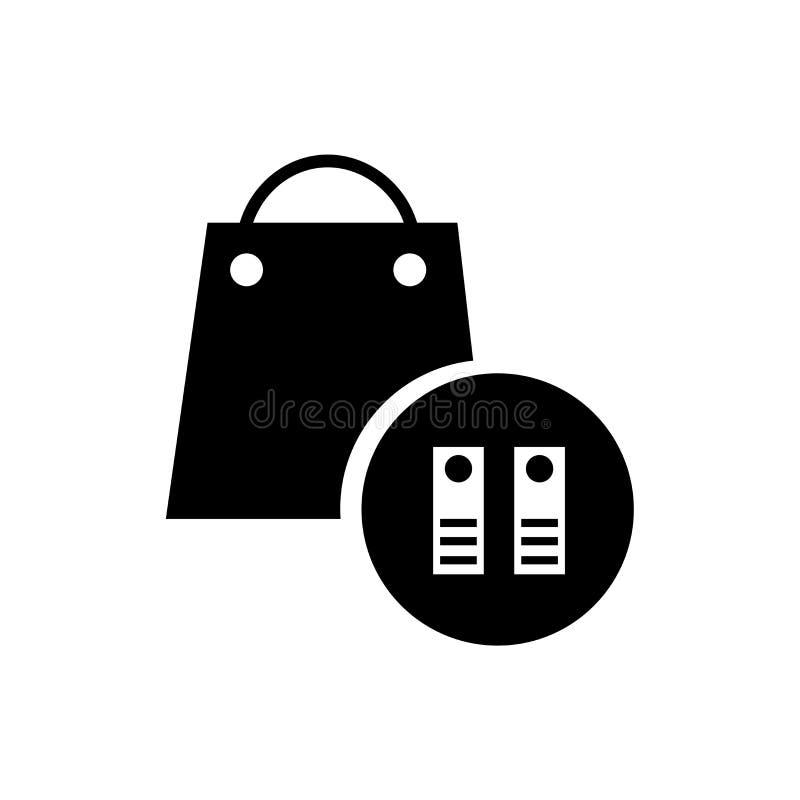 Påse av tecknet och symbolet för boksymbolsvektor som isoleras på vit bakgrund, påse av boklogobegreppet vektor illustrationer