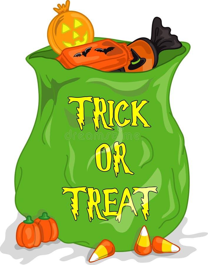 påse cndy halloween stock illustrationer