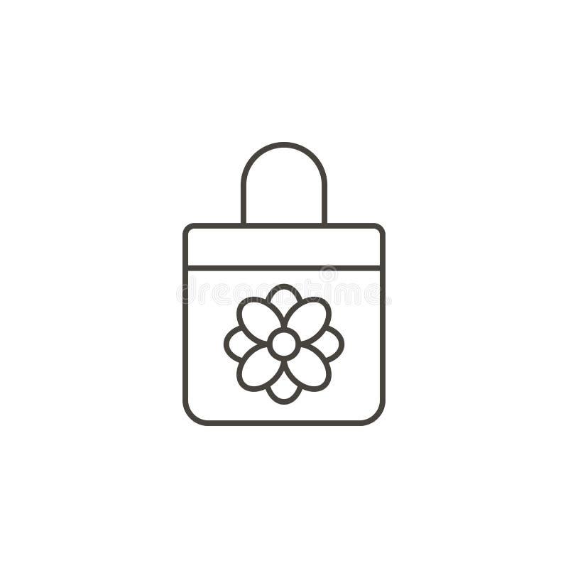 Påsen hand bär, handväskasymbolen - vektor r Påsen hand bär, handväskasymbolen - vektor royaltyfri illustrationer