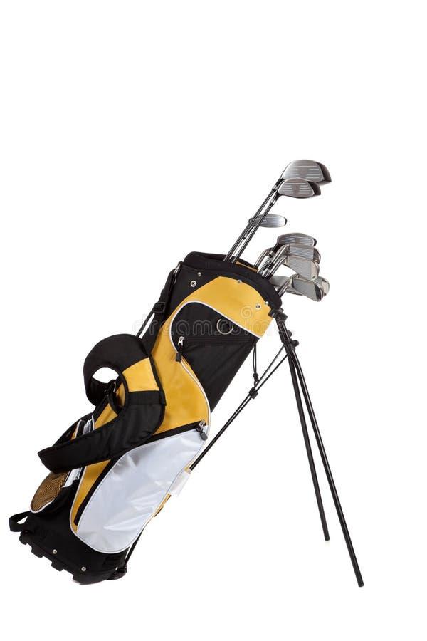 påsen klubbar golfwhite royaltyfri bild