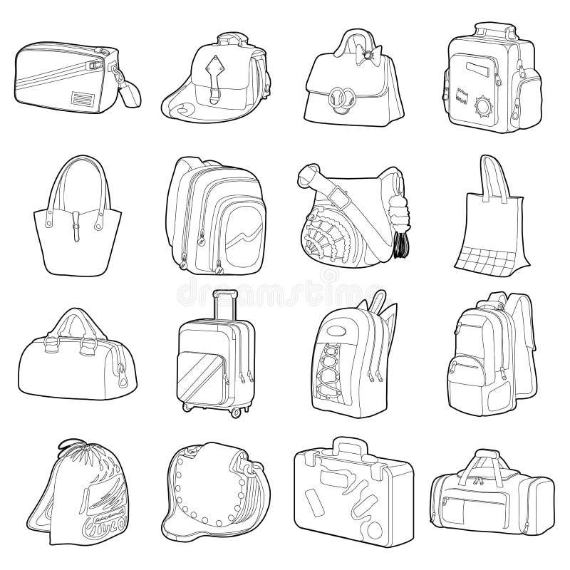Påsen skriver symboler ställde in, plan stil stock illustrationer